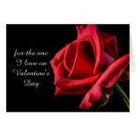 Tarjeta romántica del el día de San Valentín del