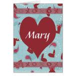 Tarjeta romántica personalizada de la tarjeta del