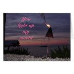 tarjeta romántica - usted enciende para arriba mi