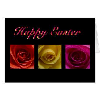 Tarjeta - rosa de rosas feliz de Pascua