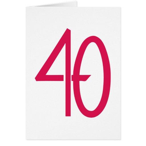 Tarjeta rosada 40