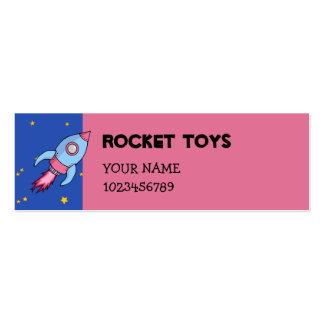 Tarjeta rosada azul de la pequeña empresa de Rocke Plantillas De Tarjeta De Negocio
