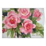 Tarjeta rosada bonita 234 de los rosas