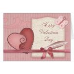 Tarjeta rosada bonita de las tarjetas del día de S