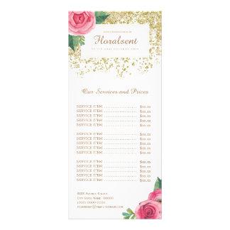 Tarjeta rosada bonita del estante de la lista de plantillas de lonas