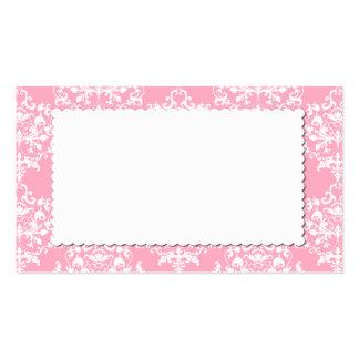 Tarjeta rosada bonita del lugar del acompañamiento tarjetas de visita