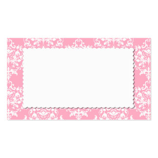 Tarjeta rosada bonita del lugar del acompañamiento tarjeta de visita