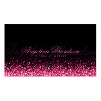 Tarjeta rosada brillante del negro del damasco del tarjetas de visita