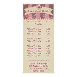 Tarjeta rosada de color de malva del estante de l tarjetas publicitarias a todo color