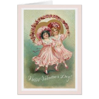 Tarjeta rosada de la amistad del el día de San