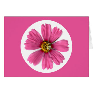Tarjeta rosada de la flor por Phantasies de