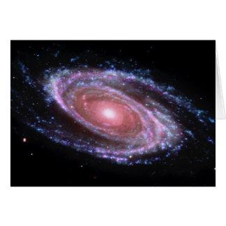 Tarjeta rosada de la galaxia espiral