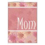 tarjeta rosada de la mamá de las tarimas