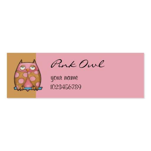 Tarjeta rosada de la pequeña empresa del marrón de plantilla de tarjeta personal
