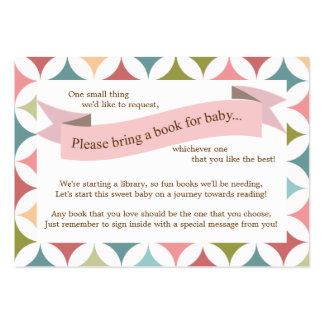 Tarjeta rosada de la petición del parte movible de plantilla de tarjeta personal