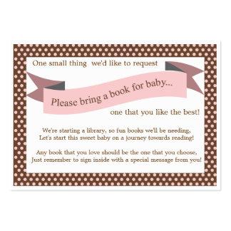 Tarjeta rosada de la petición del parte movible de plantilla de tarjeta de negocio
