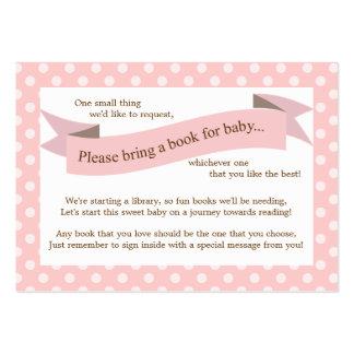 Tarjeta rosada de la petición del parte movible de plantillas de tarjeta de negocio