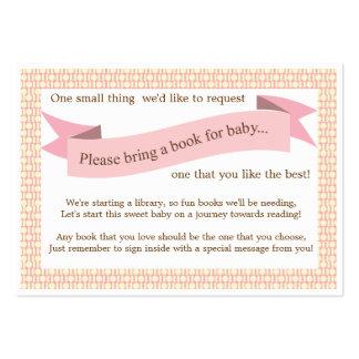 Tarjeta rosada de la petición del parte movible de tarjetas de negocios