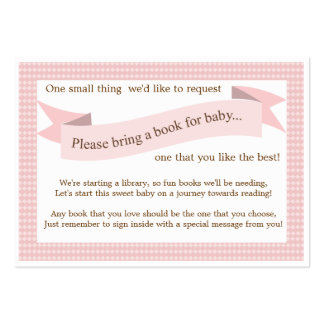 Tarjeta rosada de la petición del parte movible de tarjeta de visita
