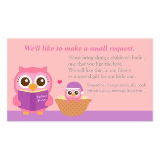 Tarjeta rosada de la petición del parte movible tarjetas de visita