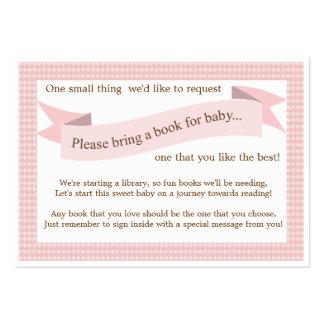 Tarjeta rosada de la petición del parte movible tarjetas de visita grandes