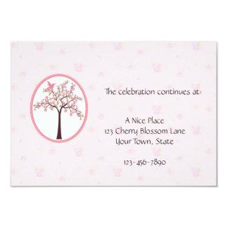 """Tarjeta rosada de la recepción del cerezo invitación 3.5"""" x 5"""""""