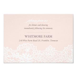 Tarjeta rosada de la recepción del recinto del invitación 8,9 x 12,7 cm