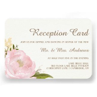 Tarjeta rosada de la recepción nupcial de los invitacion personal