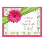 Tarjeta rosada de la receta de la margarita para q tarjetas postales