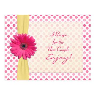 Tarjeta rosada de la receta del lunar de la tarjetas postales