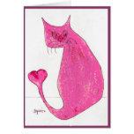 Tarjeta rosada de la tarjeta del día de San