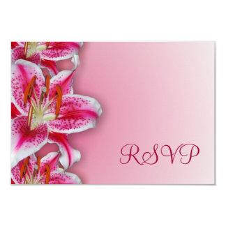 Tarjeta rosada de RSVP del Stargazer Invitacion Personalizada