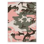 Tarjeta rosada del camuflaje