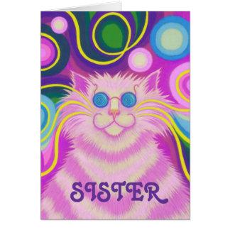 tarjeta rosada del cumpleaños maravilloso de la