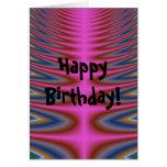 Tarjeta rosada del feliz cumpleaños del teñido anu