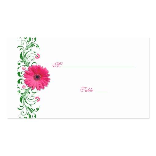 Tarjeta rosada del lugar de la ocasión especial de tarjeta de visita