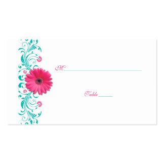 Tarjeta rosada del lugar de la ocasión especial de plantillas de tarjetas personales