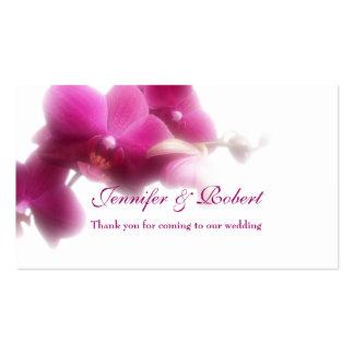 "Tarjeta rosada del lugar de la orquídea (3,5"" x 2, tarjetas personales"
