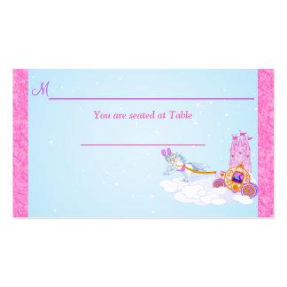 Tarjeta rosada del lugar de la recepción del tarjetas de visita