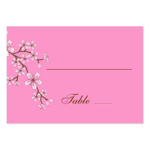 Tarjeta rosada del lugar de los flores de Gabriela Plantilla De Tarjeta De Negocio