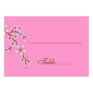 Tarjeta rosada del lugar de los flores de Gabriela Tarjetas De Visita Grandes
