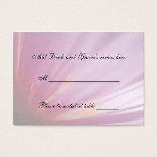 Tarjeta rosada del lugar del asiento del pétalo tarjetas de visita grandes