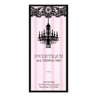 Tarjeta rosada del menú de 311 rayas de Sweetique Lona Publicitaria