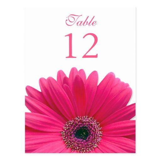 Tarjeta rosada del número de la tabla de la postal