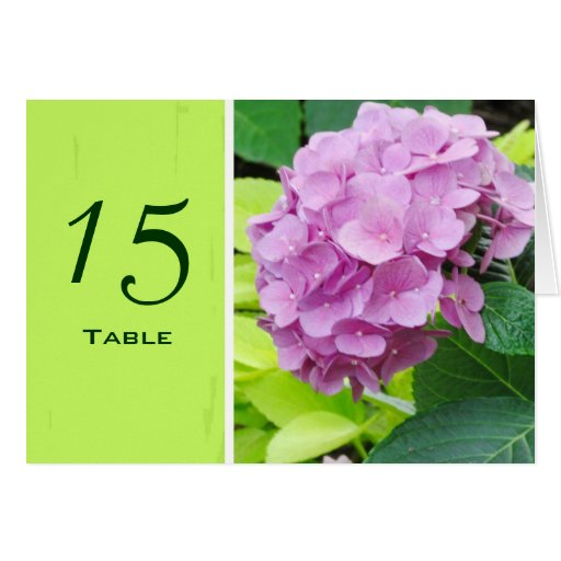 Tarjeta rosada del número de la tabla del boda del