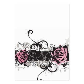 Tarjeta rosada del perfil de los rosas tarjetas de visita grandes