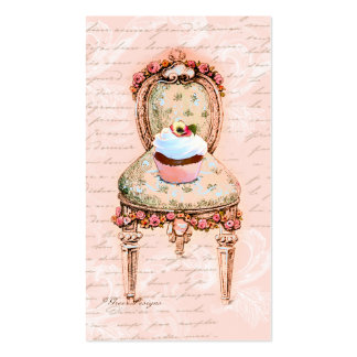 Tarjeta rosada del perfil del negocio de la tarjetas de visita