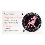 Tarjeta rosada del perfil del negocio del caniche tarjetas de visita
