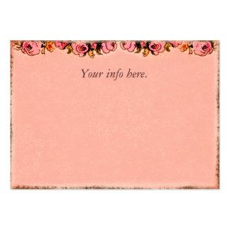 Tarjeta rosada del perfil del negocio del diseño tarjetas de visita grandes