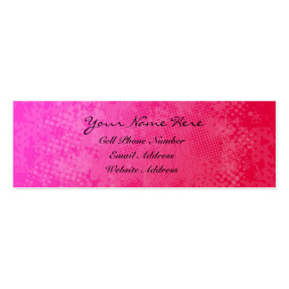 Tarjeta rosada del perfil y de visita del Grunge Tarjetas De Visita Mini